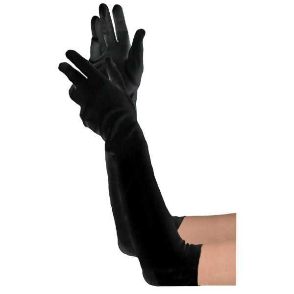 Adults Long Gloves Fancy Dress Outfit Accessory